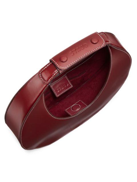Staud Moon Leather Hobo Bag | SaksFifthAvenue