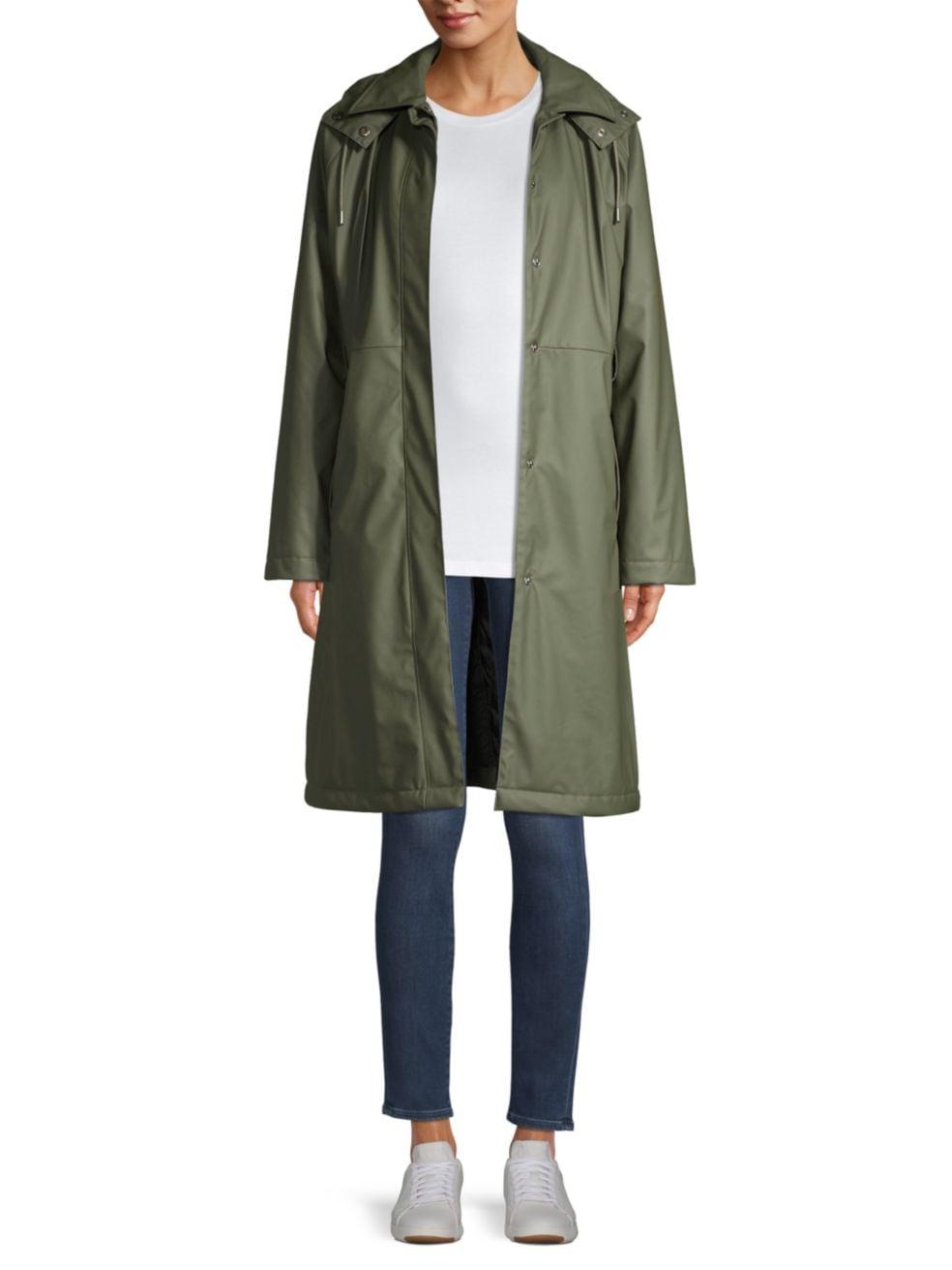 Rains Hooded Trench Coat | SaksFifthAvenue