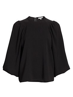 a41b10b8371eff Balloon-Sleeve Top BLACK. QUICK VIEW. Product image