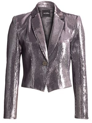 Retroféte Betty Sequin Crop Blazer