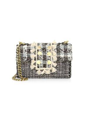 Kooreloo Romeo Tweed Shoulder Bag In Domino