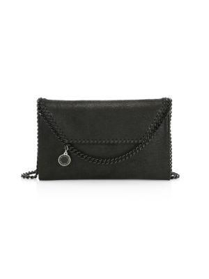 Stella Mccartney Mini Falabella Crossbody Bag In Black