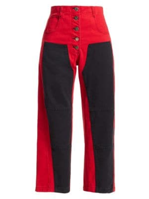 Rachel Comey Handy Colorblock Cropped Jeans