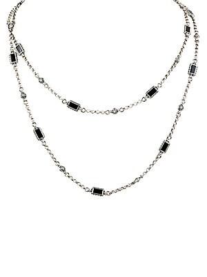 5bc4fa093b3b3 Konstantino - Calypso 18K White Gold, Sterling Silver & Onyx Necklace