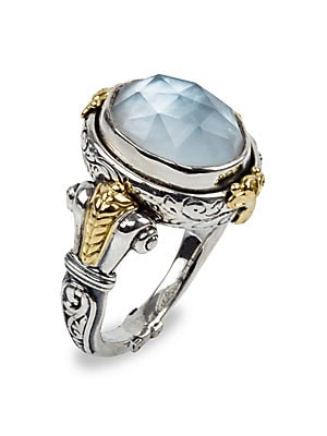 8ab0c94f1fb6e Konstantino - Sterling Silver/18K Yellow Gold Mother-Of-Pearl Doublet Ring
