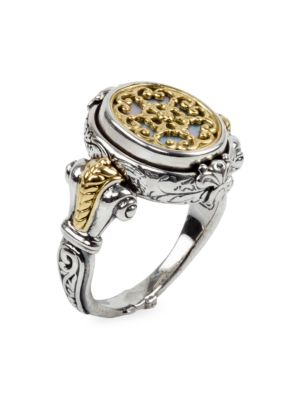 262fa4c2dc8e3 Konstantino - Sterling Silver/18K Yellow Gold Mother-Of-Pearl Ring ...