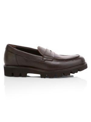 3240714a Vince - Comrade Leather Penny Loafers<div></div> - saks.com