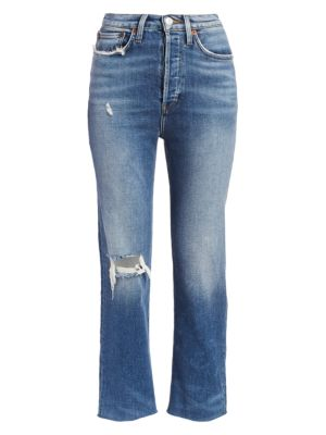 Re Done Comfort Stretch Ultra High Rise Stovepipe Jeans