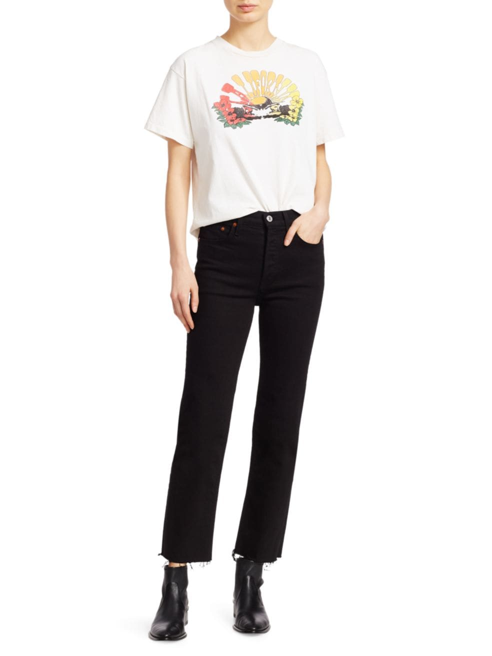 Re/done Comfort Stretch High-Rise Stovepipe Jeans | SaksFifthAvenue