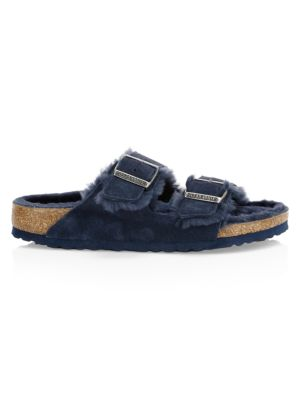 Birkenstock Arizona Shearling Lined Suede Sandals