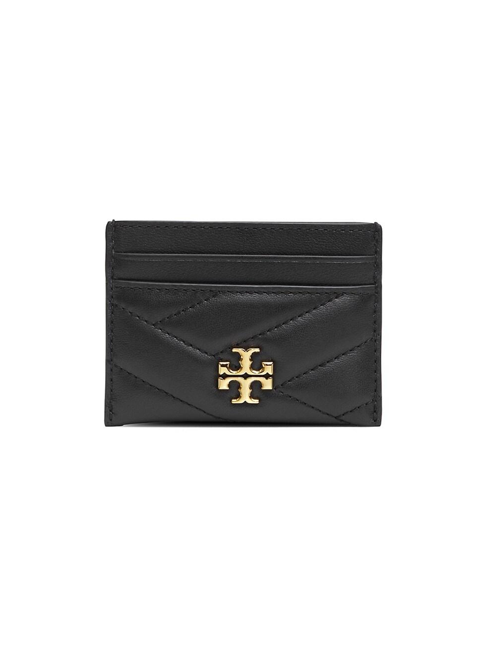 토리버치 카드 지갑 Tory Burch Kira Chevron Leather Card Case,BLACK