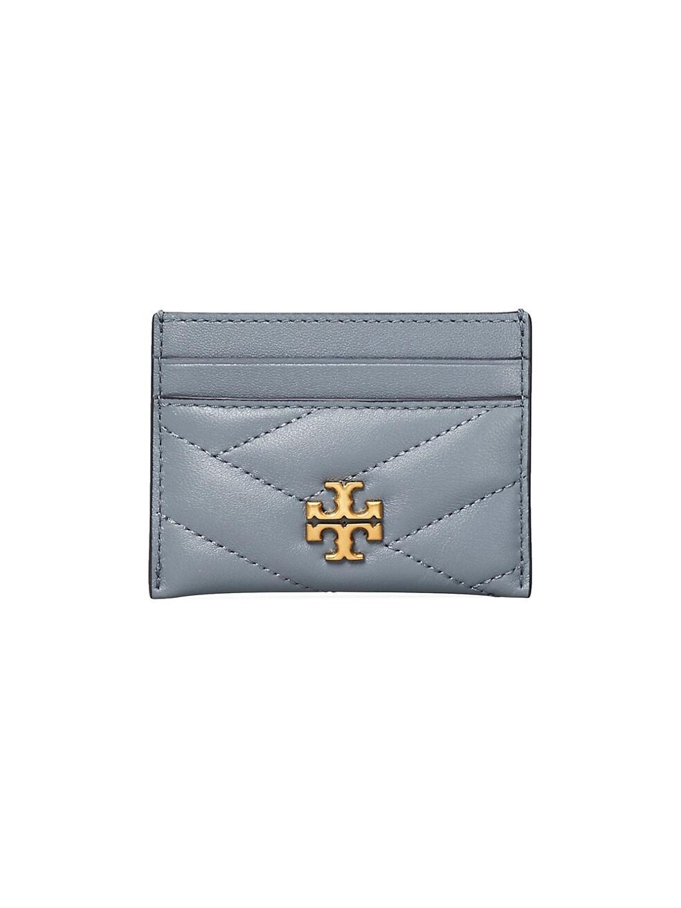 토리버치 카드 지갑 Tory Burch Kira Chevron Leather Card Case,RAINWATER