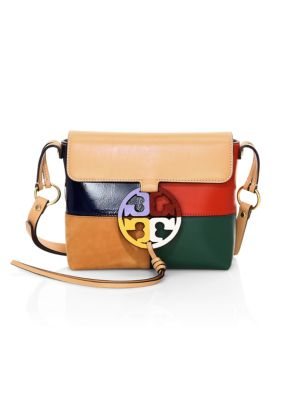 Tory Burch Miller Colorblock Leather Crossbody Bag