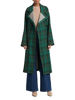 ff8ec74cbac Product image. See by Chloé. Plaid Trench Coat