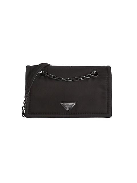 Tessuto Nylon Chain Shoulder Bag