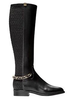 5c211ac83536e Idina Stretch Leather Riding Boots BLACK. QUICK VIEW. Product image