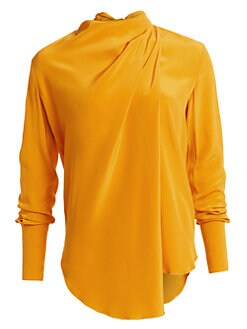 48bfedae60f4a3 QUICK VIEW. A.L.C.. Sophie Draped Silk Blouse