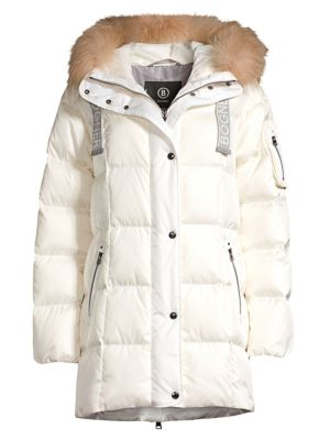 Bogner Jackets Fanja Fox Fur-Trim Quilted Down Jacket
