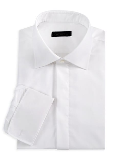 COLLECTION Tonal Dot Tuxedo Shirt