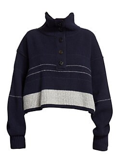 5c4c7339194a Sacai. Cropped Turtleneck Wool Sweater