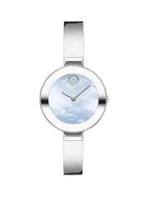 Movado Bold Ion-Plated Stainless Steel Bangle Watch In Blue