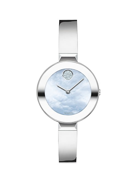 Bold Ion-Plated Stainless Steel Bangle Watch