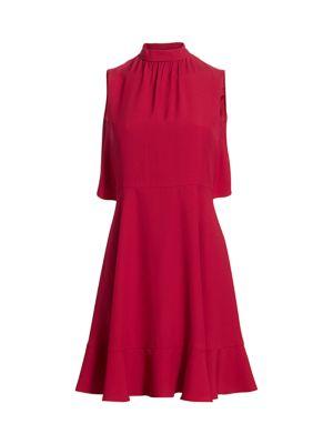Red Valentino Dresses Bowback Flounce Hem Dress