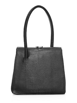 4da019ea7 Little Liffner. Madame Lizard-Embossed Leather Top Handle Bag