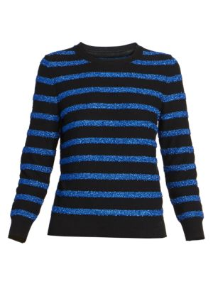 Marc Jacobs The Glam Sparkle Striped Sweater