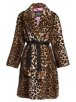 c0918b500147 The Leopard Faux Fur Coat MULTI. QUICK VIEW. Product image