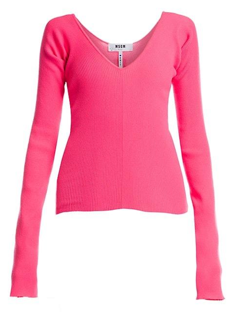 Neon Scoopneck Sweater
