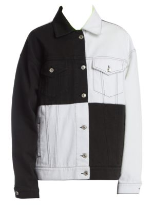 Msgm Two Tone Denim Jacket