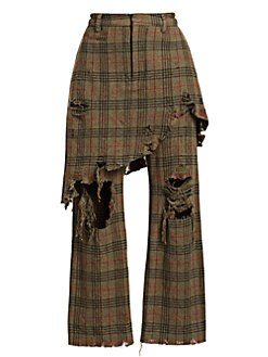 20906d98e26f11 QUICK VIEW. R13. Double Classic Plaid Wool Combo Trousers