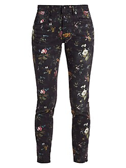 40a90f52eaa3 R13. Kate Floral-Print Skinny Jeans