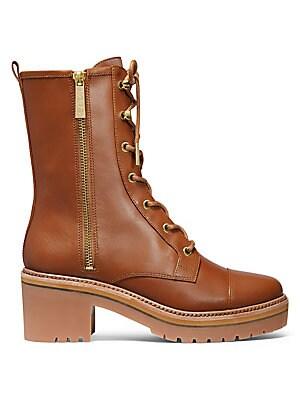 08d34a90391 MICHAEL Michael Kors - Anaka Leather Combat Boots