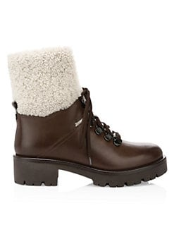 1238ebd6d QUICK VIEW. Aquatalia. Jamie Shearling & Leather Hiking Boots