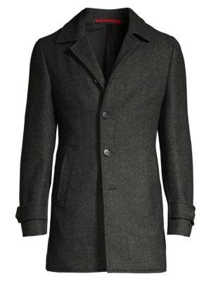 Isaia Coats Classic-Fit Wool Overcoat