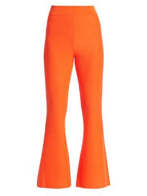Victor Glemaud Flare Merino Wool Knit Pants