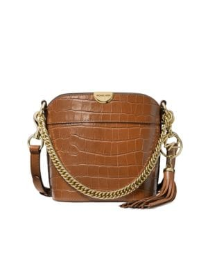 Michael Michael Kors Extra Small Bea Croc Embossed Leather