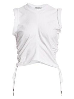 a098437acf65 alexanderwang.t. Ruched Crop T-Shirt