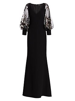 ad2cd5421 Embellished Blouson Sleeve Gown BLACK MULTI. QUICK VIEW. Product image