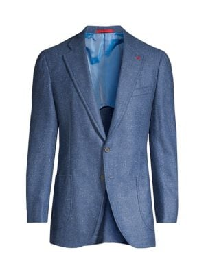 Isaia Coats Classic-Fit Donegal Cashmere Sportcoat