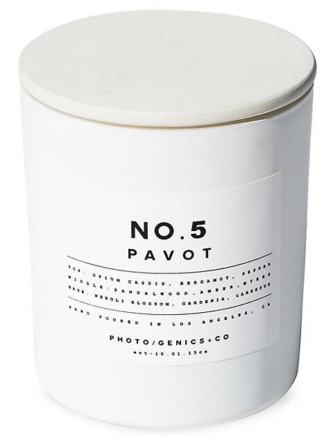 No.5 Pavot Glass Candle
