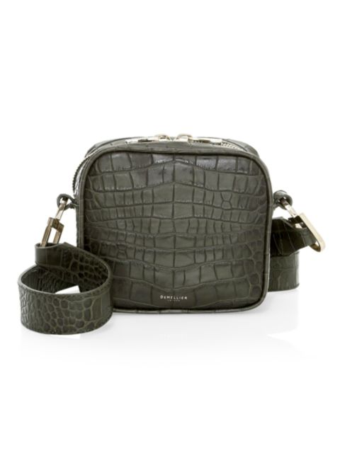 Demellier Small Athens Croco-Embossed Crossbody Bag   SaksFifthAvenue