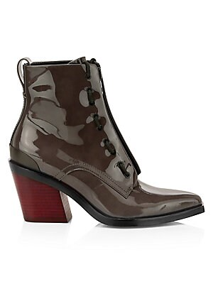 Ryder Zip Up Patent Leather Boots by Rag & Bone