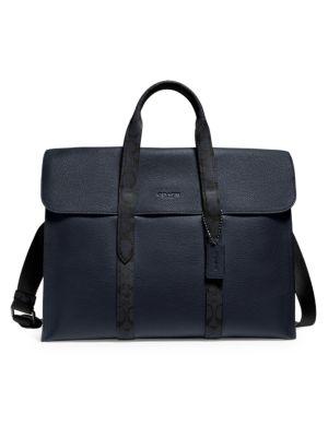 Coach Metropolitan Leather Canvas Portfolio Bag
