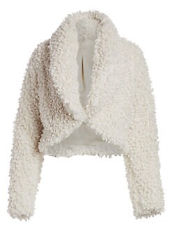 126510d41e6 Cult Gaia. Evie Faux Fur Cropped Teddy Coat