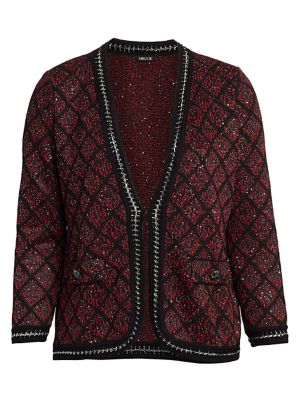 Misook, Plus Size Tweed & Sequin Jacket