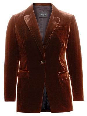 Lafayette 148 New York, Plus Size Classic Velvet Jacket