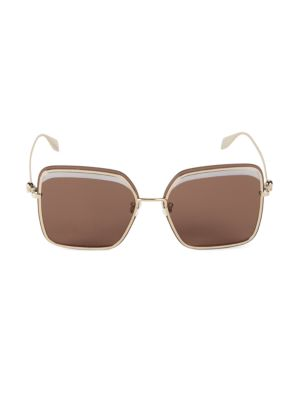 Alexander Mcqueen Sunglasses 60MM Square Sunglasses